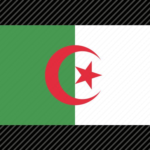 algeria, algerian, country, flag, national icon