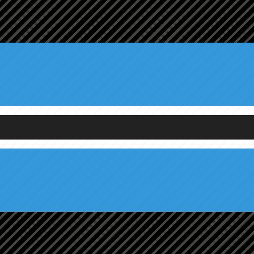 botswana, country, flag, national icon