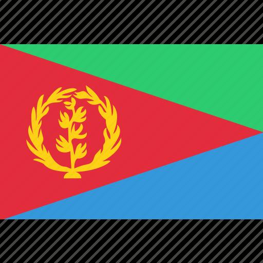 country, eritrea, eritrean, flag, national icon