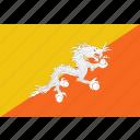 bhutan, bhutanese, country, flag