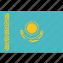 country, flag, kazakhstan, national