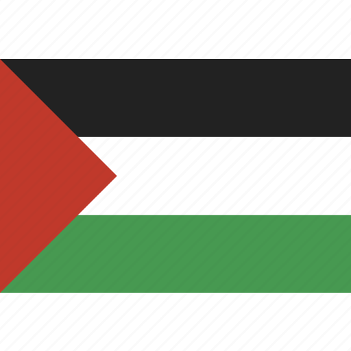 country, flag, national, palestine icon