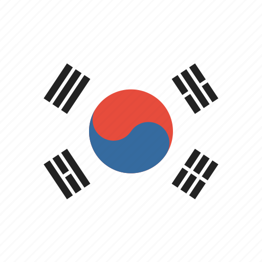 Country, flag, korea, korean, national, south icon - Download on Iconfinder