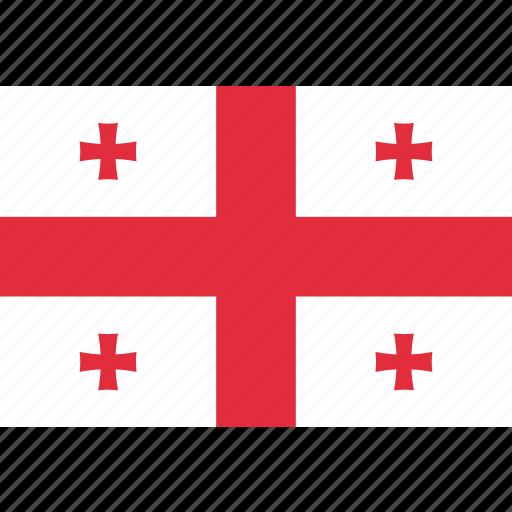 country, flag, georgia, georgian, national icon