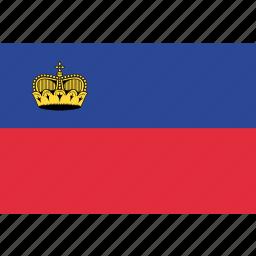 country, flag, liechtenstein, national icon