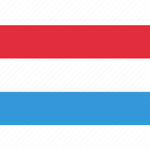 country, flag, luxembourg, national icon