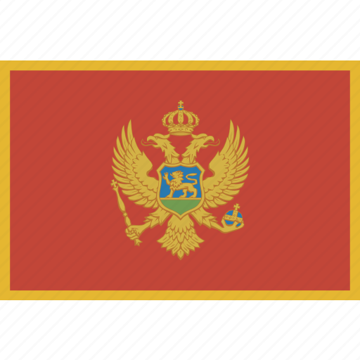 country, flag, montenegro, national icon