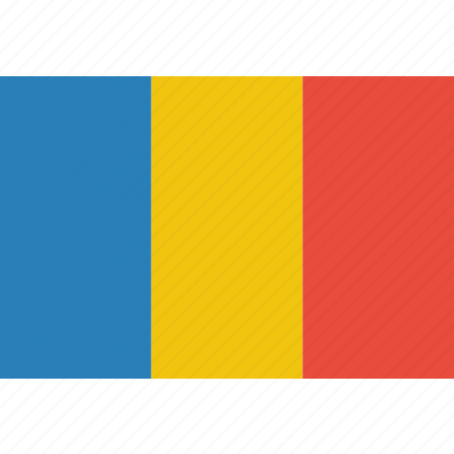 country, flag, national, romania, romanian icon