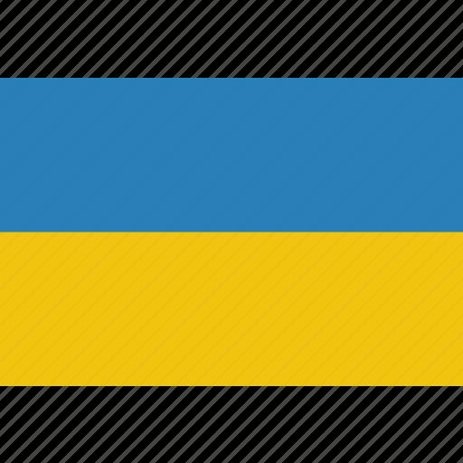 country, flag, national, ukraine icon