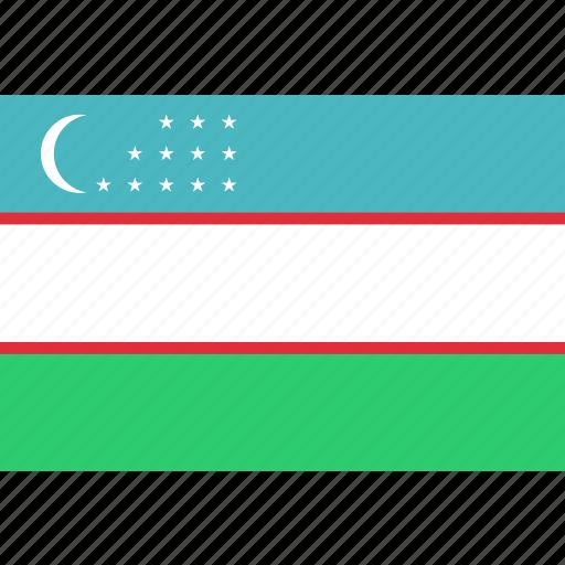 country, flag, national, uzbekistan icon