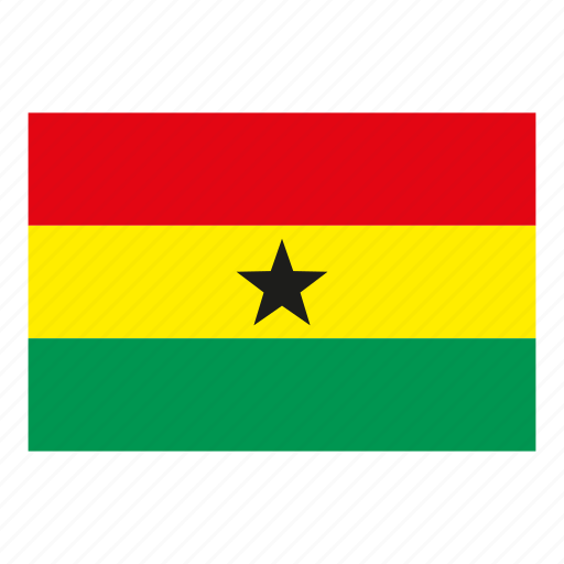 flag, flags of the world, ghana, world flags icon