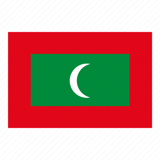 flag, flags of the world, maldives, world flags icon