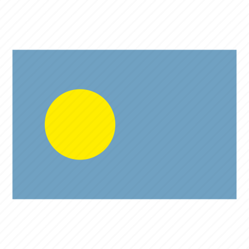 flag, flags of the world, palau, world flags icon