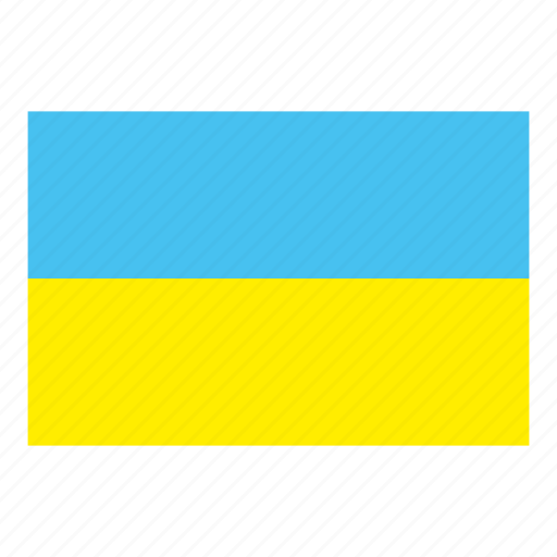 flag, flags of the world, ukraine, world flags icon