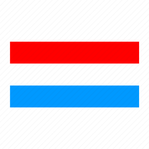 flag, flags of the world, luxembourg, world flags icon