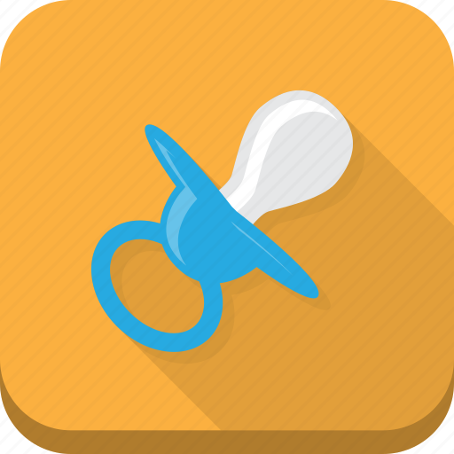 baby, blue, child, dummy, infant, orange, pacifier icon