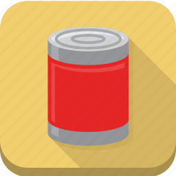 canned, goods, products, shopping icon