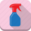 bottle, clean, cleaning, pink, spray icon