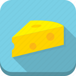 blue, cheese, dairy, holes, yellow icon
