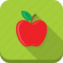 apple, food, fresh, fruit, green, healthy, red icon