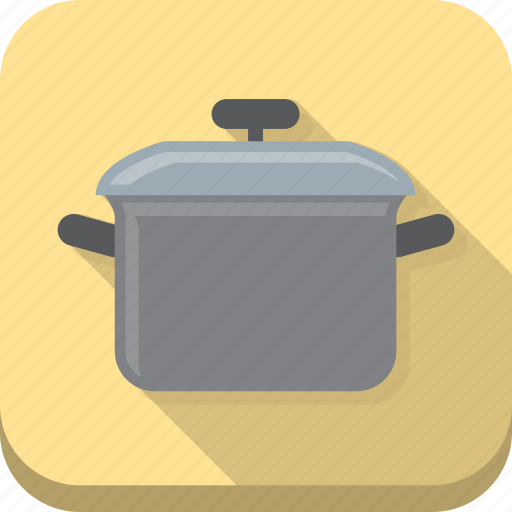 cook, cooking, food, kitchen, meal, pot, yellow icon