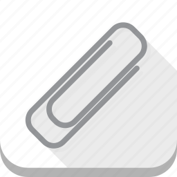 business, document, office, paperclip, white icon