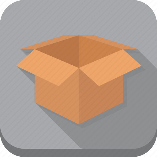 box, cardboard, delivery, grey, other, shipping, storage icon