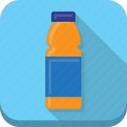 beverage, blue, bottle, drink, refrigerated icon