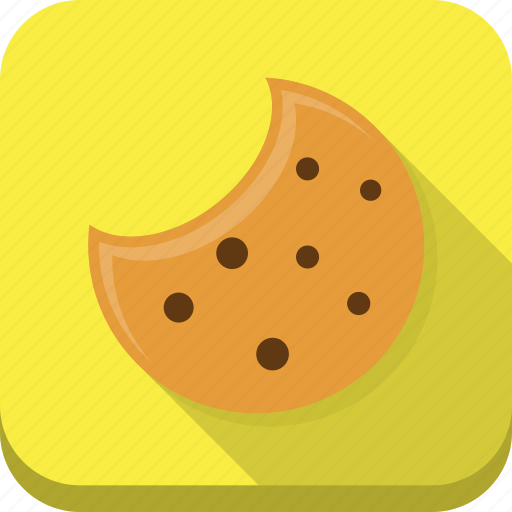 chocolate, cookie, cookies, food, snack, yellow icon