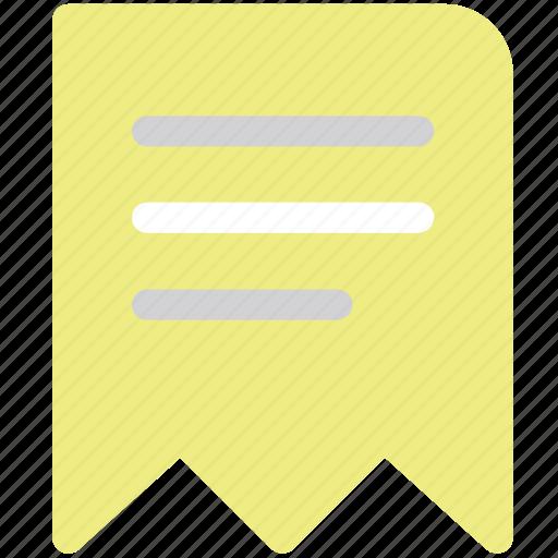 bill, financial report, invoice, receipt, tax icon