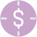 dollar, focus, marketing, paper money icon
