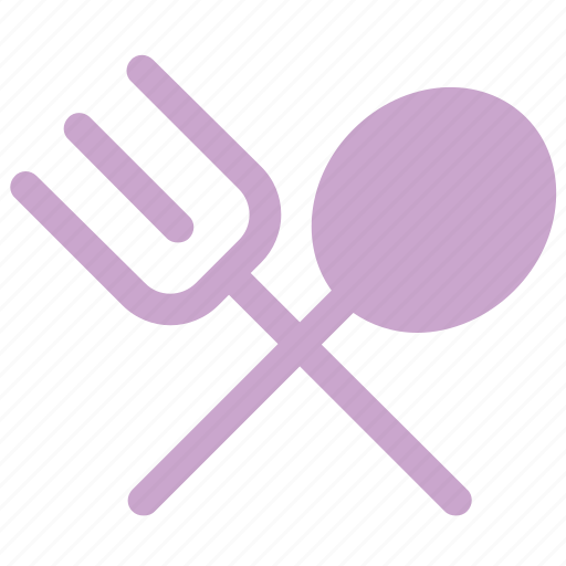 cutlery, fork, spoon, tableware icon