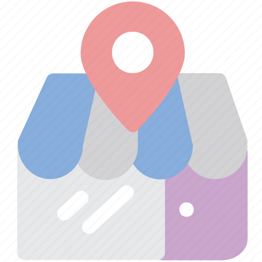 location, market, market store, shop, store icon
