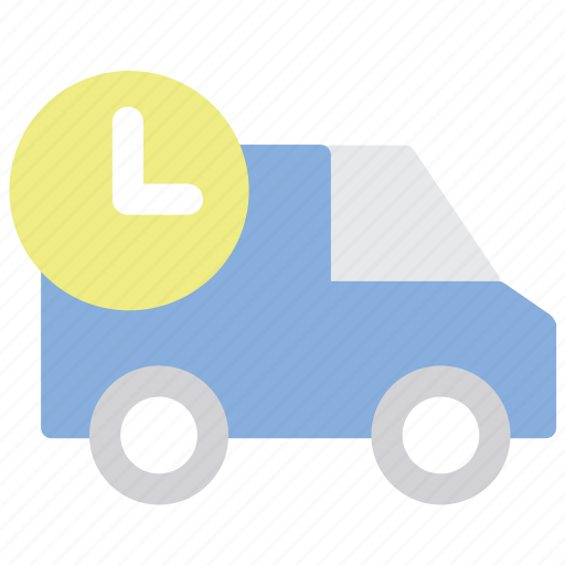 delivery, express, fast, shipping, timing, truck icon