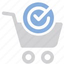 add, buy, cart, check, meanicons, store icon