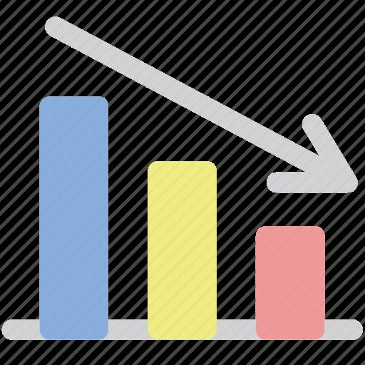 bars, graph, loss, losses icon