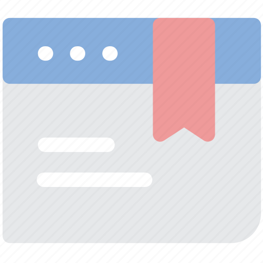 bookmark, favourite, page, website icon