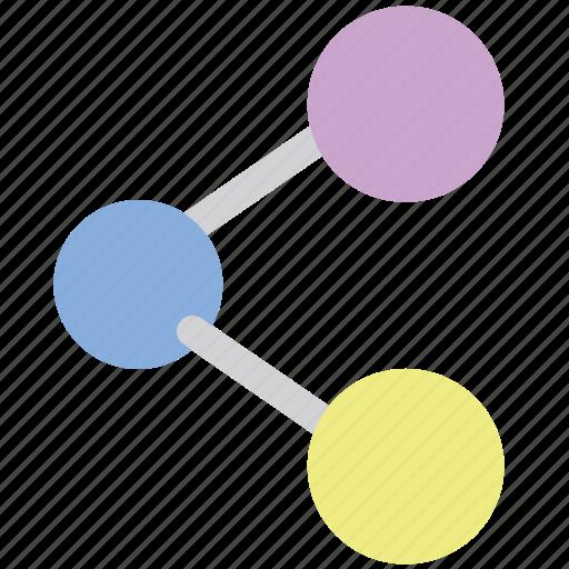 atom, molecule, orbit, physics, science, ux icon