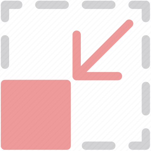 arrow, down, scale, ui icon
