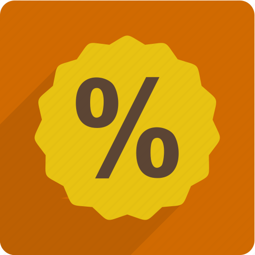 business, finance, money, percent icon