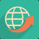 arrow, world, navigation, up