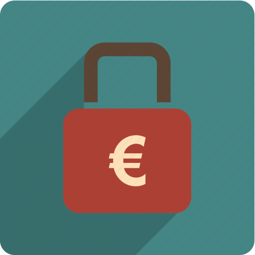 euro, lock, locked, safe icon