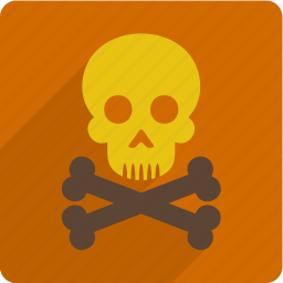 danger, error, problem, skull icon