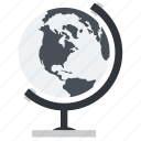 academic, academy, earth, geography, globe, map, school, tool, university, world icon
