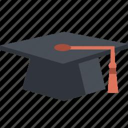 academic, academy, cap, graduate, graduation, knowledge, school, tassle, university icon