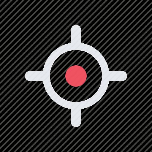 aim, bullseye, goal, objective, snipe, sniper, target icon
