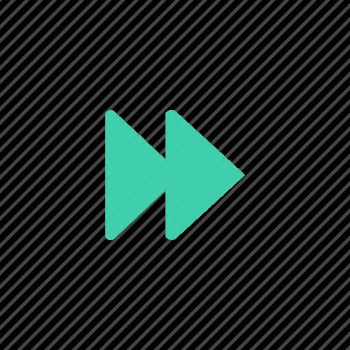 arrow, control, forward, player icon