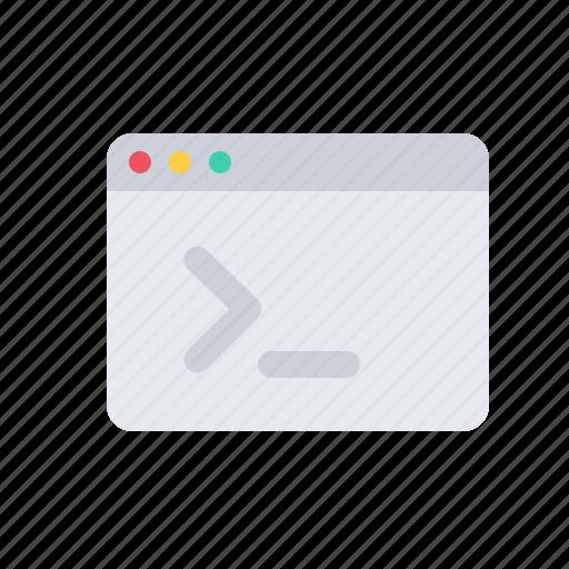 admin, application, coding, console, terminal, window icon