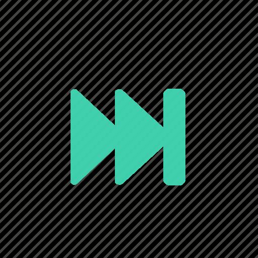 arrows, control, forward, green, player icon