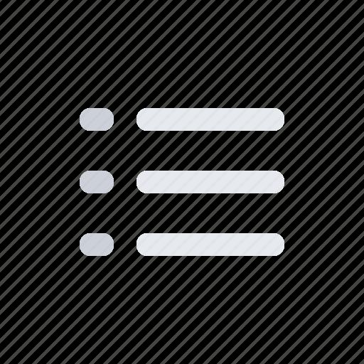 bullets, checklist, feed, list, news, playlist icon